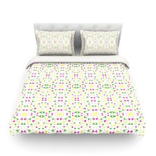 Neon Triangles by Empire Ruhl Light Cotton Duvet Cover