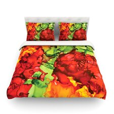 One Love by Claire Day Light Cotton Duvet Cover