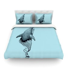 Shark Record II by Graham Curran Light Cotton Duvet Cover