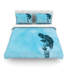 Turtle Tuba III by Graham Curran Light Cotton Duvet Cover