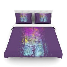 Purple Rain Light by Frederic Levy-Hadida Cotton Duvet Cover