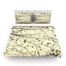 Boughs Neutral by Iris Lehnhardt Light Cotton Duvet Cover