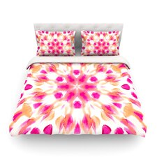 Batik Mandala Light by Iris Lehnhardt Cotton Duvet Cover