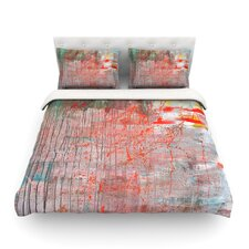 Mots de La Terre by Iris Lehnhardt Light Cotton Duvet Cover