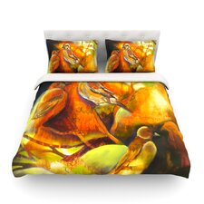 Reflecting Light by Kristin Humphrey Light Cotton Duvet Cover