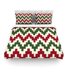 Christmas Gram Chevron Light Cotton Duvet Cover