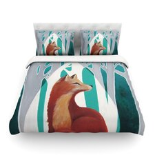 Fox Forest by Lydia Martin Light Cotton Duvet Cover
