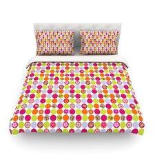 Happy Circles by Julia Grifol Light Cotton Duvet Cover