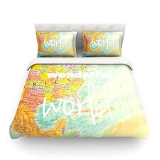 What a Wonderful World Light by Libertad Leal Cotton Duvet Cover