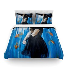 Sink or Swim Light by Lydia Martin Cotton Duvet Cover