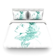 Queen of the Sea by Lydia Martin Light Cotton Duvet Cover