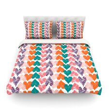 Hearts by Louise Machado Light Cotton Duvet Cover