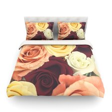 Vintage Roses by Libertad Leal Light Cotton Duvet Cover