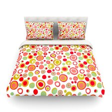 Bubbles by Louise Machado Warm Circles Light Cotton Duvet Cover