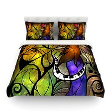 So This Is Love Light by Mandie Manzano Cotton Duvet Cover