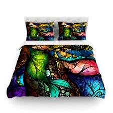 Sleep and Awake by Mandie Manzano Light Cotton Duvet Cover