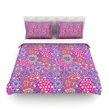 My Happy Flowers by Julia Grifol Woven Duvet Cover