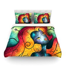 Andromeda Light by Mandie Manzano Cotton Duvet Cover