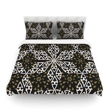 Ethnical Snowflakes by Miranda Mol Light Cotton Duvet Cover