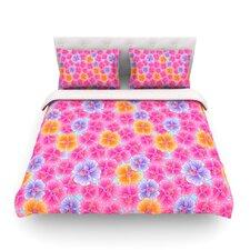 My Pink Garden by Julia Grifol Light Cotton Duvet Cover