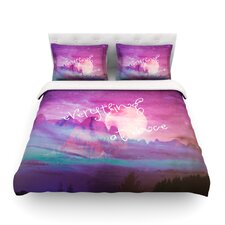 Everything at Once by Monika Strigel Light Cotton Duvet Cover