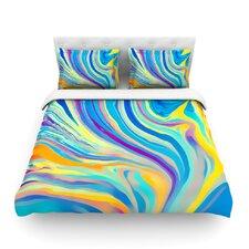Rainbow Swirl by Ingrid Beddoes Light Cotton Duvet Cover