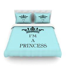Im A Princess by Louise Machado Light Cotton Duvet Cover