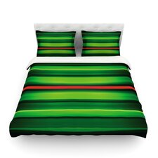 Stripes Light by Matthias Hennig Cotton Duvet Cover