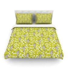 Blossom Bird by Julie Hamilton Light Cotton Duvet Cover