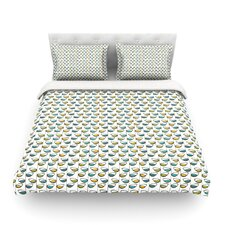 Spring Stem by Julie Hamilton Light Cotton Duvet Cover