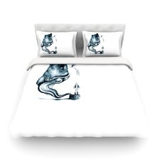 Shark Record III by Graham Curran Light Cotton Duvet Cover