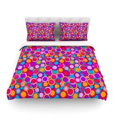 My Colourful Circles by Julia Grifol Light Cotton Duvet Cover