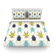 Beetles by Laurie Baars Light Cotton Duvet Cover
