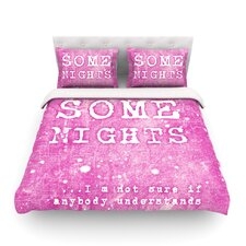 Some Nights Light by Monika Strigel Cotton Duvet Cover