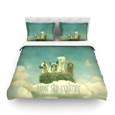 Never Stop Exploring by Monika Strigel Light Cotton Duvet Cover