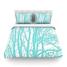 Mint Trees by Monika Strigel Light Cotton Duvet Cover