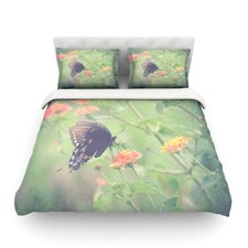 Captivating II by Robin Dickinson Flower Cotton Duvet Cover