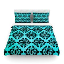 Eye Symmetry Pattern by Pom Graphic Design Cotton Duvet Cover