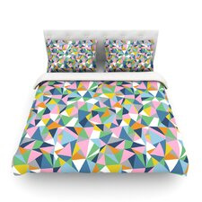 Abstraction Pink by Project M Rainbow Abstract Cotton Duvet Cover