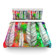 Feather by Suzanne Carter Rainbow Space Cotton Duvet Cover