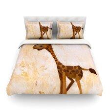 Georgey The Giraffe by Rachel Kokko Cotton Duvet Cover