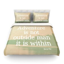 Adventure by Rachel Burbee Nature Typography Cotton Duvet Cover