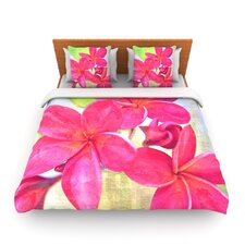 Plumeria by Sylvia Cook Fleece Duvet Cover