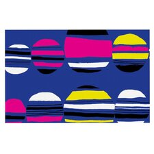 Retro Circles by Emine Ortega Decorative Doormat