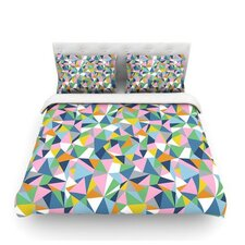 Abstraction Pink by Project M Woven Duvet Cover