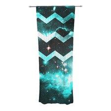 Blue Star Chevron Curtain Panels (Set of 2)