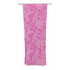 Welcome Birds To My Pink Garden Curtain Panels (Set of 2)