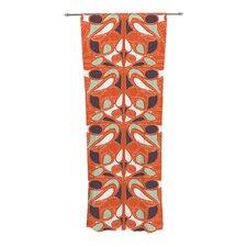 Orange Swirl Kiss Curtain Panels (Set of 2)