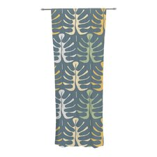 My Leaves on Blue Curtain Panels (Set of 2)