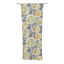 Simple Circles Curtain Panels (Set of 2)